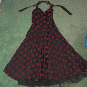 Dresses & Skirts - 50's Style Red Polka Dot Dress